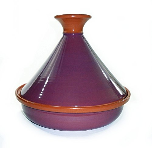 Le Souk Ceramique CT-PUR-30 Cookable Tagine, 12-Inch, Purple