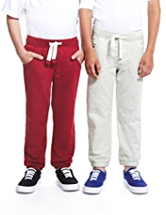 2 Pack Cotton Rich Drawstring Joggers