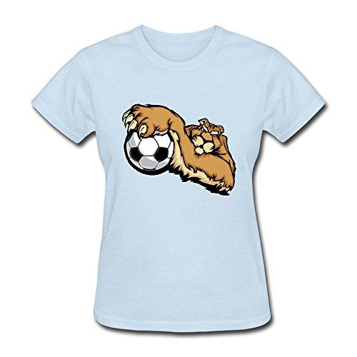 Ruifeng Women'S Wolf Catch Football T-Shirt