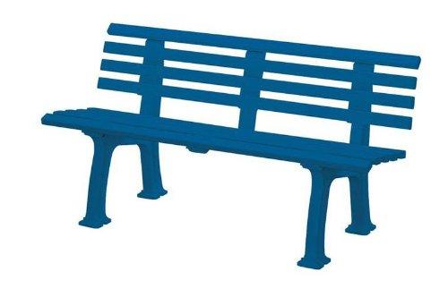 Gartenbank Sylt blau Blome 3-Sitzer