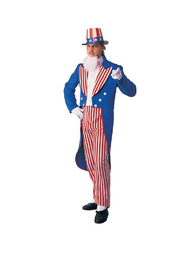 Morris Costumes Men's UNCLE SAM ADULT COSTUME SMALL