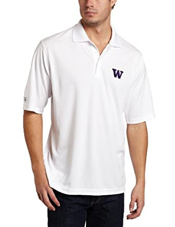 NCAA Washington Huskies Exceed Desert Dry Lite Polo Mens by Antigua