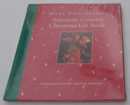 Mary Emmerling's American Country Christmas List Book, Emmerling, Mary