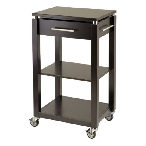 Cheap Winsome Trading Linea Kitchen Cart with Chrome Accent 92718 (B004I5DGN6)