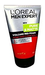 LOreal Men Expert White Active Total Skin Renewer Volcano Red Foam Face Wash For Men 100 ml