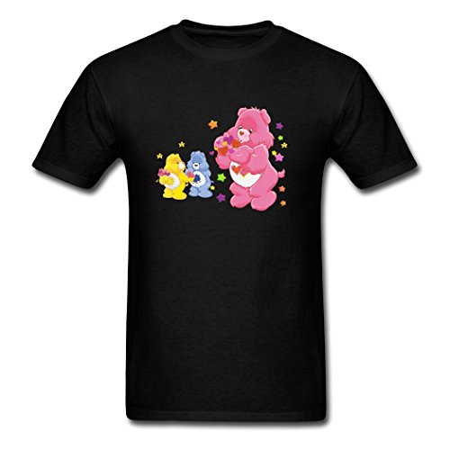 Hugogo Comfortable On Discount Care Lucky Bear Grumpy Black Men's Shirt X-Large (Lucky Care Bear compare prices)