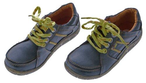 Leder Damen Halb Schuhe Comfort Sneakers Used Look Navi TMA Eyes Gr. 36