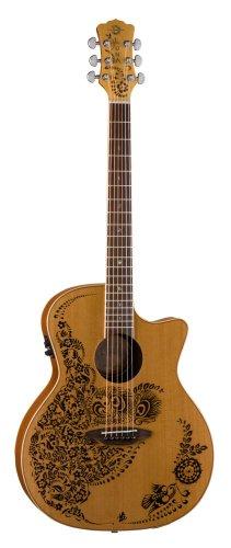 Luna Henna Series Oasis Cedar Acoustic-Electric Guitar - Natural