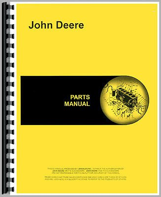 New John Deere 95 Combine Parts Manual (Self Propelled)