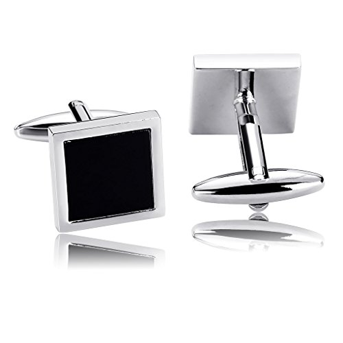 knsam-men-stainless-steel-french-cufflinks-black-silver-square-smooth-simple-shirt-cufflinks-busines