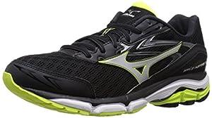 Mizuno Men's Wave Inspire 12 Running Shoe, Black/Silver, 9 D US