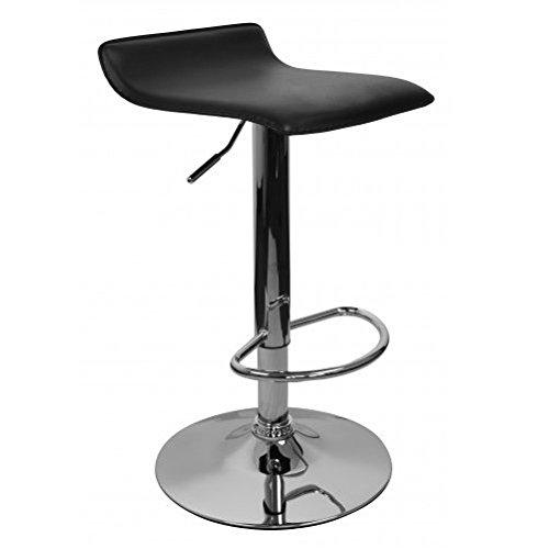 Amstyle-Ibiza-Design-Klassiker-hhenverstellbarer-Barhocker-Leder-Optik-schwarz