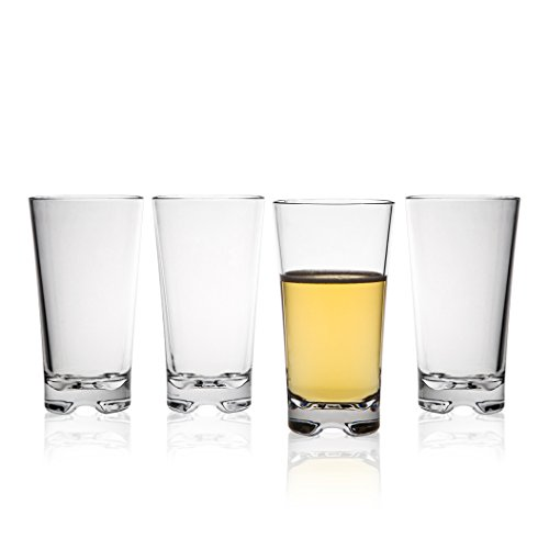 MICHLEY-Classic-Unbreakable-Water-Tumblers-Restaurant-quality-PC-Cup-Water-Glasses-12-oz