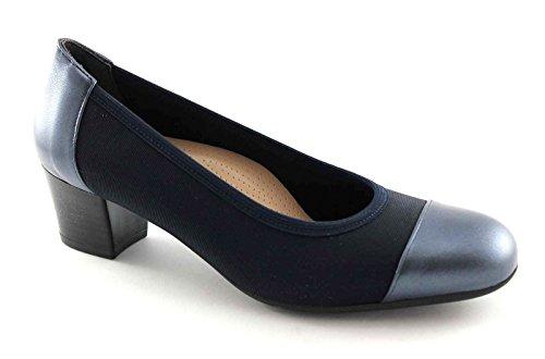 GRUNLAND TORO SC1711 blu scarpe donna decolletè elasticizzato puntale 36