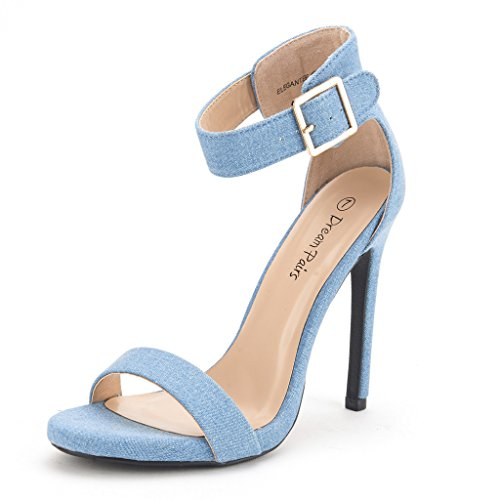 01. DREAM PAIRS ELEGANTEE Women's Evening High Heels Open Toe Ankle Strap Platform Casual Stiletto Pumps Sandals