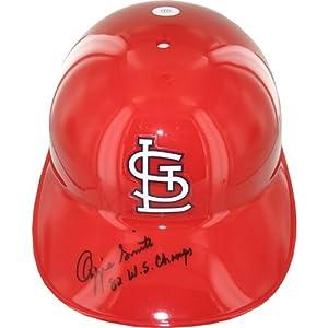 Steiner Sports MLB St. Louis Cardinals Ozzie Smith No Ear Flap Batting Helmet with... by Steiner Sports