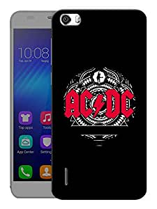 """Humor Gang Ac Dc Rocks Printed Designer Mobile Back Cover For """"Huawei Honor 6"""" (3D, Matte, Premium Quality Snap On Case)"""