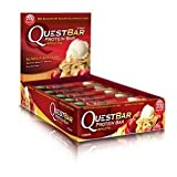 Quest Bar Apple Pie &#8211; Low Carb, High Protein Bars that are High Fiber and Gluten Free &#8211; Box of 12, 25.44 oz