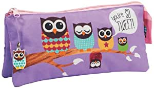 GIVE A HOOT 3 Pocket Pencil Case with Charm