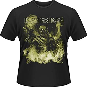 Plastic Head Iron Maiden Futureal Explosion Men's T-Shirt Black Medium