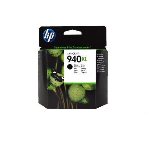 HP 940XL C4906AN140 Ink Cartridge in Retail Packaging-Black