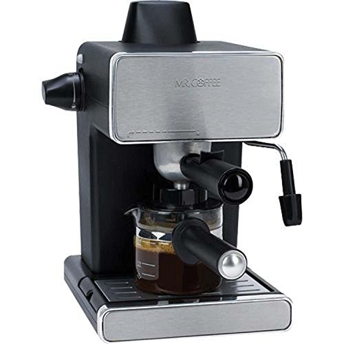 Mr. Coffee Steam Espresso Machine, Stainless Steel/Black (Certified Refurbished) (Mr Coffee Latte Maker compare prices)