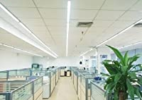 20W 4ft Industrial LED Batten Tube Light Surface Mount or Hanging IP Rated Triproof Fittng in Cool White T8 Fluorescent Replacement Home or Commercial Use by Long Life Lamp Company