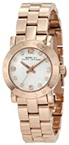 Marc Jacobs Mini Amy White Dial Rose Gold-tone Stainless