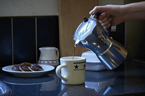 Aerolatte Moka Stovetop Espresso Pot Coffee Maker, 3 Cup Capacity