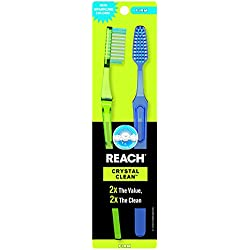 Reach Crystal Clean Firm Adult Toothbrush 2-Pack