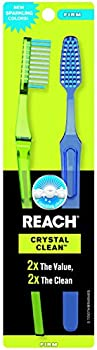 2-Pack Reach Crystal Clean Firm Adult Toothbrush