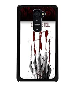 PrintDhaba Blood Hand D-4763 Back Case Cover for LG G2 (Multi-Coloured)