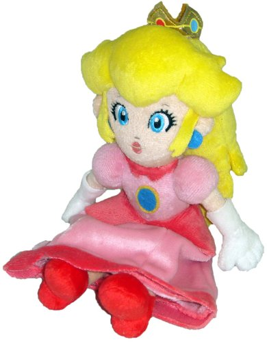 "Super Mario Plush - 8"" Princess Peach Soft Stuffed Plush Toy Japanese Import"