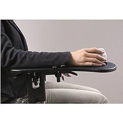 Skyzonal Ergonomic Adjustable Computer Desk Extender Arm Wrist Rest Support/ Mouse Pad Desk Chair System Computer Armrest Wrist Rest Black