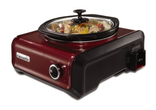 Crock-Pot SCCPMD2-R Hook Up Round Connectable Entertaining Slow Cooker System, 2-Quart, Metallic Red by Crock-Pot (Crock Pot Hook Up 2 Qt compare prices)