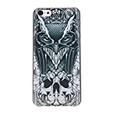 Mysterious Skull Owl Pattern PC Hard Case for iPhone 5C