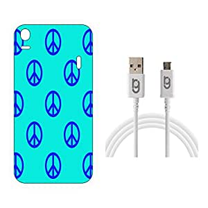 Designer Hard Back Case for Lenovo K3 Note with 1.5m Micro USB Cable