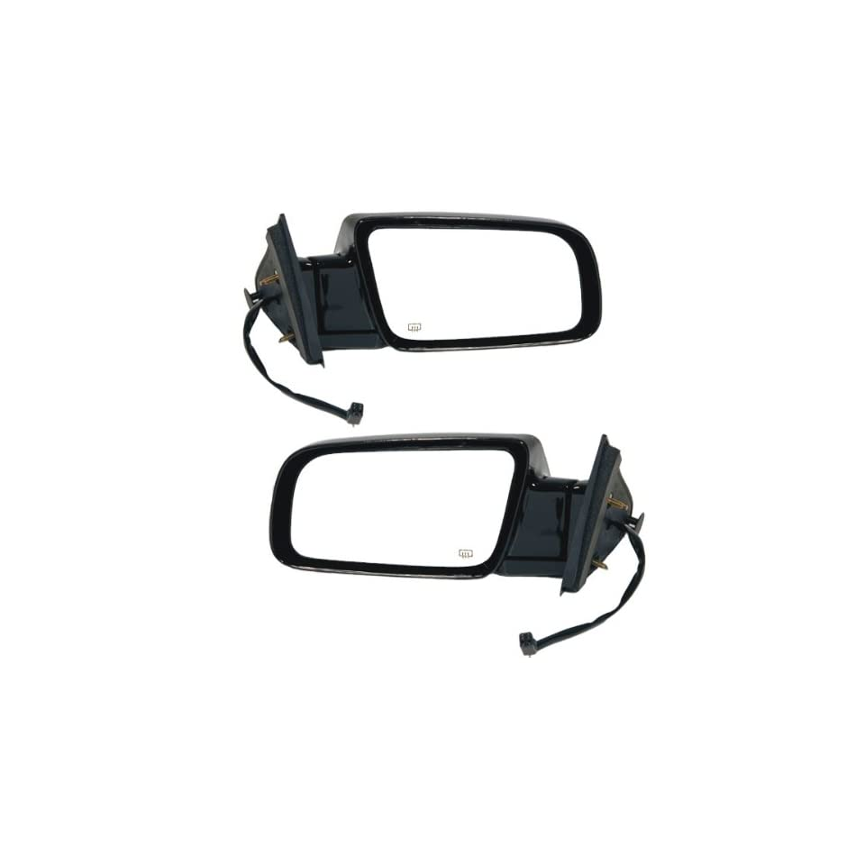 1998 2000 Cadillac Escalade Chevy/GMC Suburban C1500 C2500 K1500 K2500 Chevrolet Tahoe Yukon & Yukon Denali Power Heated Glossy Black With Heat Rear View Mirrors Pair Set Left Driver AND Right Passenger Side (1998 98 1999 99 2000 00)