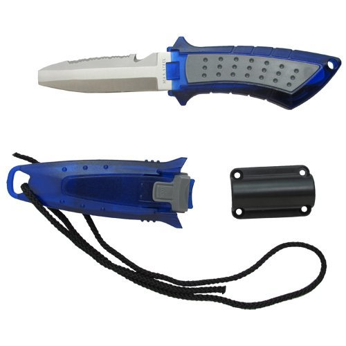 Scuba Choice Diving Low Volume Stainless Steel Blunt Tip BCD Knife, Blue