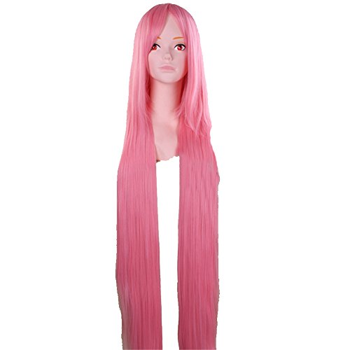 Surker 120Cm Long Yellow Straight Cosplay Hair Wig(Pink) Pcpa00160A
