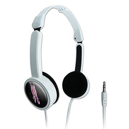 Novelty Travel Portable On-Ear Foldable Headphones Ballet Ballerina Dancer - Ballet Slippers Pink Black Ballerina Dance Dancing (Ballet Slipper Resin compare prices)