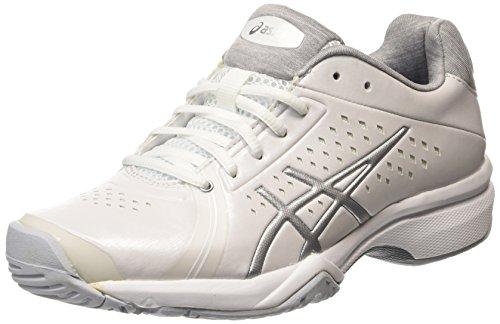 ASICS Gel-court Bella - Scarpe da Tennis Donna, Bianco (white/silver/white 0193), 38 EU