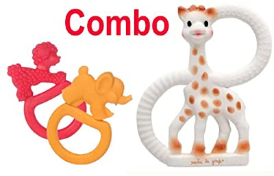 Sophie The Giraffe Vanilla Teething Ring comes gift boxed