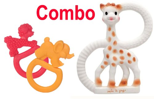 Sophie The Giraffe Vanilla Teething Ring - Gift Boxed! - Plus Sophie The Giraffe Vanilla Teething Rings - 1