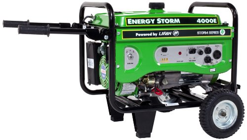 Lifan Energy Storm Es4000E-Ca 4000 Watt Lifan 7 Hp Ohv 211Cc 4-Stroke Gas Powered Portable Generator With Electric Start (Carb Certified)