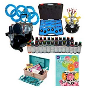 Complete 6 Station Professional Airbrush Cake Decorating