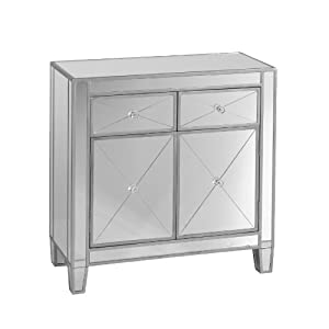 Amazon Com Sei Mirage Mirrored Cabinet Kitchen Amp Dining