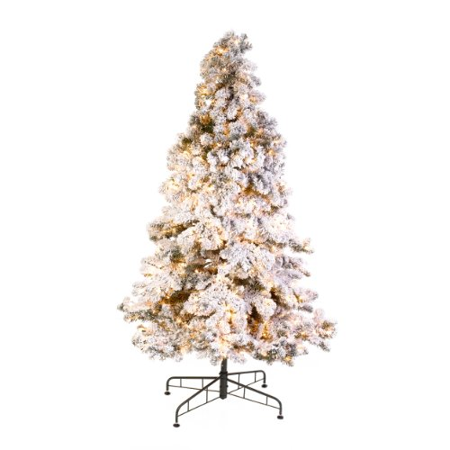GKI Bethlehem 7 5 Snowy Pine Flocked Medium Pre Lit Christmas Tree 5ive Do