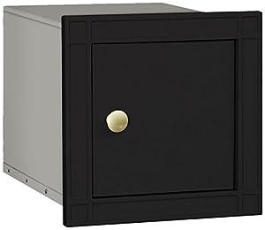 Salsbury Industries 4140P-BLK Cast Aluminum Column Non-Locking Plain Door Mailbox, Black