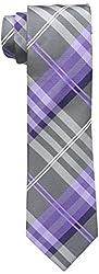 Geoffrey Beene Men's Petros Plaid II Tie, Purple, One Size